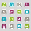 16 Web icons music — Stock Vector