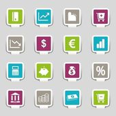 16 Internet Icons Money Part 3 — Stock Vector
