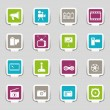 16 icons media — Stock Vector