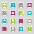 Stock Vector: 16 kitchenware icons