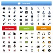 Many internet icons — Stock Vector