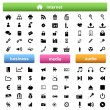 Internet,business and multimedia icons — Stock Vector #9948535