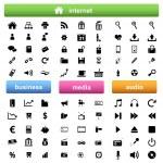 Internet, business e icone multimediale — Vettoriale Stock  #9948535