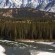 Icy Waters of the Bow River in Banff — Stock Photo #8159660