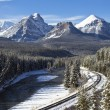 Railroad in the Rockies — Stock Photo