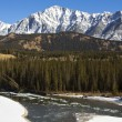 Icy Waters of the Bow River in Banff — Stock Photo #8159682