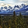 Rocky Mountains Valley View — Stock Photo
