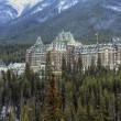 Hotel in the Canadian Rockies - Stock Photo