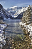 Paysage hivernal lac louise — Photo