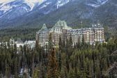 Hotel in de canadese rockies — Stockfoto