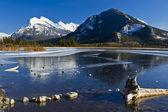 Mount Rundle Reflections — Stock Photo