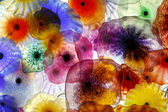 Glass Flowers — Stock Photo