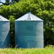 Steel Grain Bins — Stock Photo