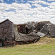 Natures Toll on a Barn — Stock Photo