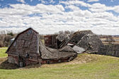 Natures Toll on a Barn — Foto Stock