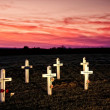 Wooden Crosses — Stock Photo