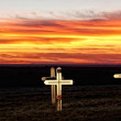 Wooden Crosses — Stock Photo #8700105