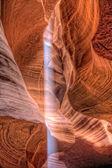 Sun beam in Slot Canyon — Stock Photo