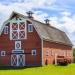 Old Red Barn on Farm — Stock Photo #9700377