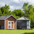 Stock Photo: Shed and Grain Bin