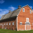Old Red Barn on Farm — Stock Photo