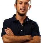 Man with polo shirt — Stock Photo