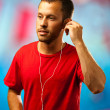 Man listening to music - Foto de Stock