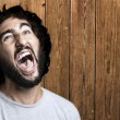 Stock Photo: Man shouting