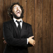 Business man laughing — Stock Photo