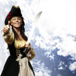 Pirate woman — Stock Photo #10176861
