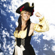 Pirate woman — Stock Photo