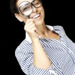 Royalty-Free Stock Photo: Woman with magnifying glass