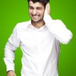 Man too loud gesture — Stock Photo