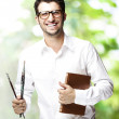 Man holding book — Stock Photo #10177974