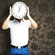 Man holding clock — Stock Photo #10178424
