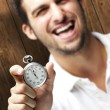 Man holding stopwatch — Stock Photo #10178478
