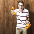 Man with telephone — Stock Photo