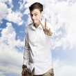 Young man gesturing — Stock Photo #10178874
