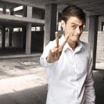 Man gesturing good — Stock Photo #10178876