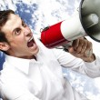 Man with megaphone — Stock Photo #10178920