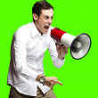 Man with megaphone — Stock Photo #10178925