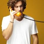 Man talking on telephone — Stock Photo #10179174