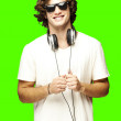 Man with headphones — Stock Photo #10179259