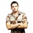 Serious soldier — Stock Photo