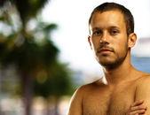 Man shirtless — Stock Photo