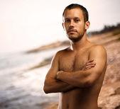 在海滩的男人 — 图库照片