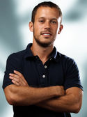 Man with polo shirt — Stock Photo