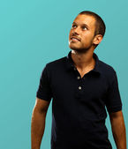 Man with polo shirt — Foto Stock