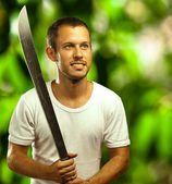 Man with sword — Foto Stock