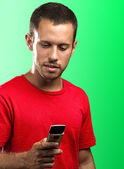 Jovem digitação — Foto Stock